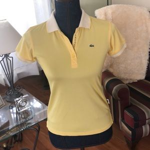 Lacoste beautiful yellow size L top